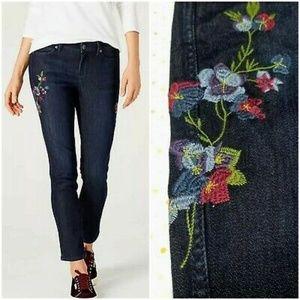 J. Jill Luna Slim Ankle Floral Jeans